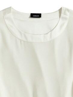 Seiden-Shirtbluse Edel-Basic Offwhite Detail 3