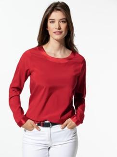 Seiden-Shirtbluse Edel-Basic Mohnrot Detail 1