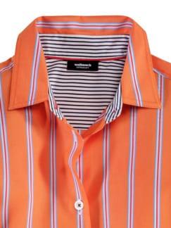 Extraglatt-Hemdbluse-Everyday Streifen Orange Detail 3