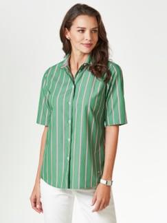 Extraglatt-Hemdbluse-Everyday Streifen Grün Detail 1