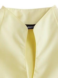 Extraglatt-Bluse Kelchkragen Gelb Detail 3