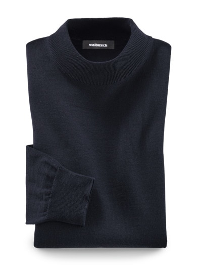 Merino-Mix Stehbund-Pullover