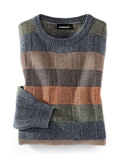Jacquard- Pullover  6 Farben