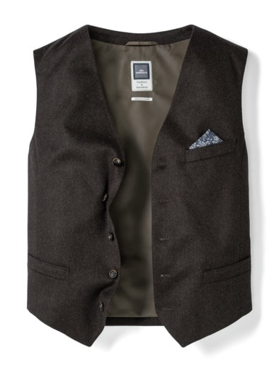 Loden Weste Wolle-Cashmere