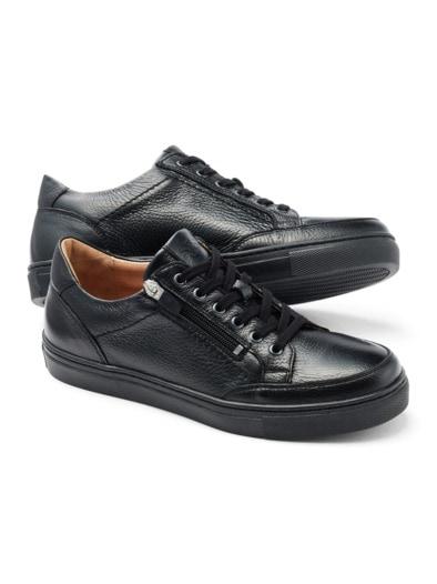 Reißverschluss Hirschleder-Sneaker