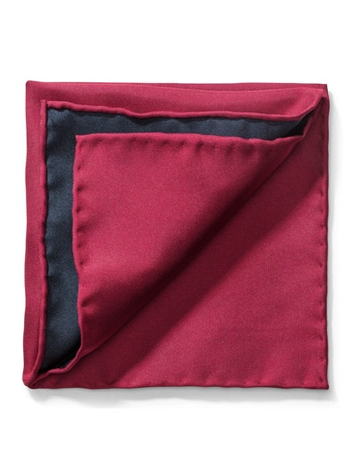 Seideneinstecktuch Uni 2-Farben