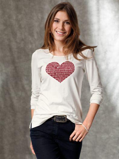 Designshirt mit Herz