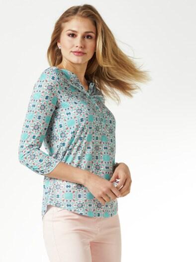 Ausbrenner-Shirt Kachelmuster