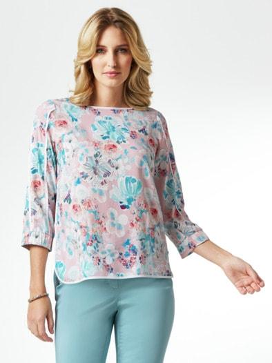 Viskose Shirtbluse Sommerleicht