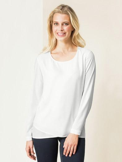 Layering Shirtbluse Blickdicht