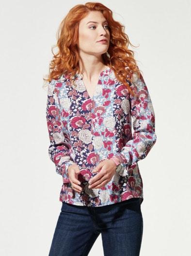 Viskose Shirtbluse Blumendruck