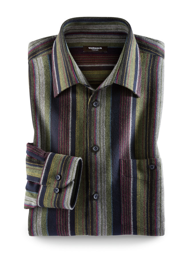 Thermoflanell-Hemd Colorstreifen