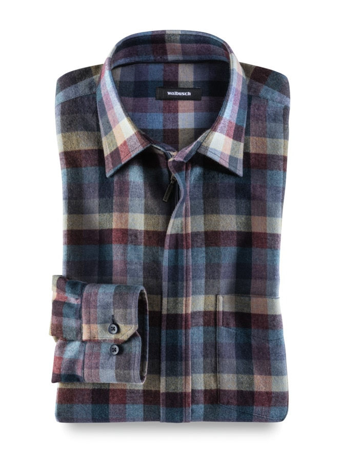 Flanell-Hemd Reißverschluss