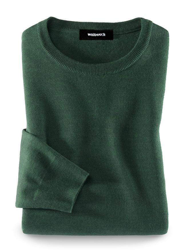 Merino-Mix Rundhals-Pullover