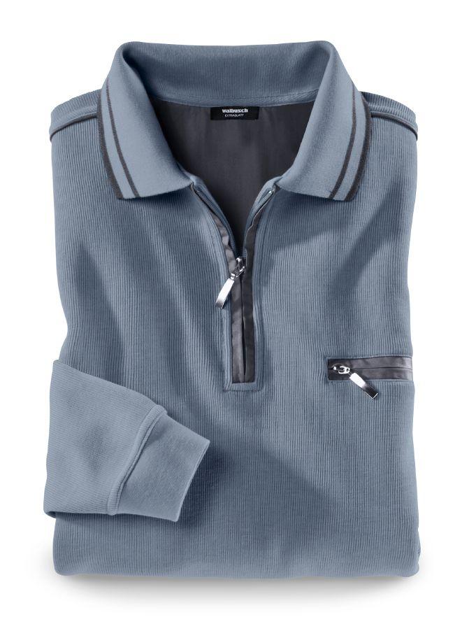 Extraglatt-Polo-Pullover