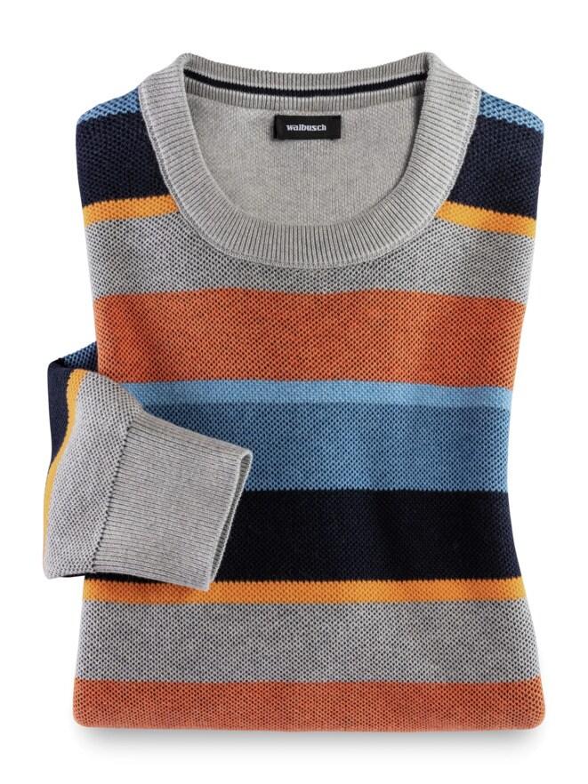 Streifen-Pullover Soft Cotton
