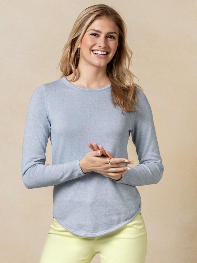 Baumwoll-Cashmere Pullover