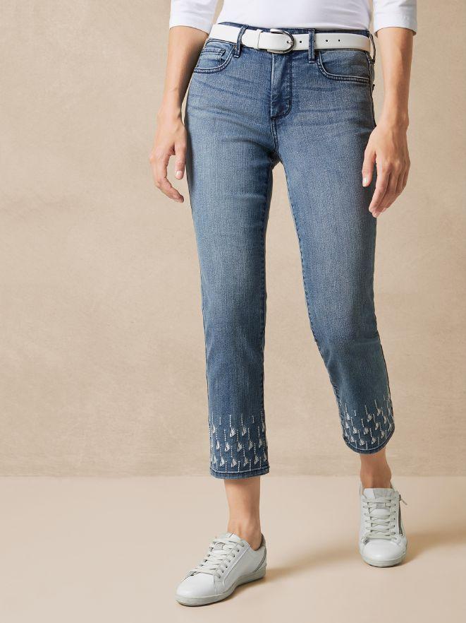 NYDJ Ankle Jeans Stickerei