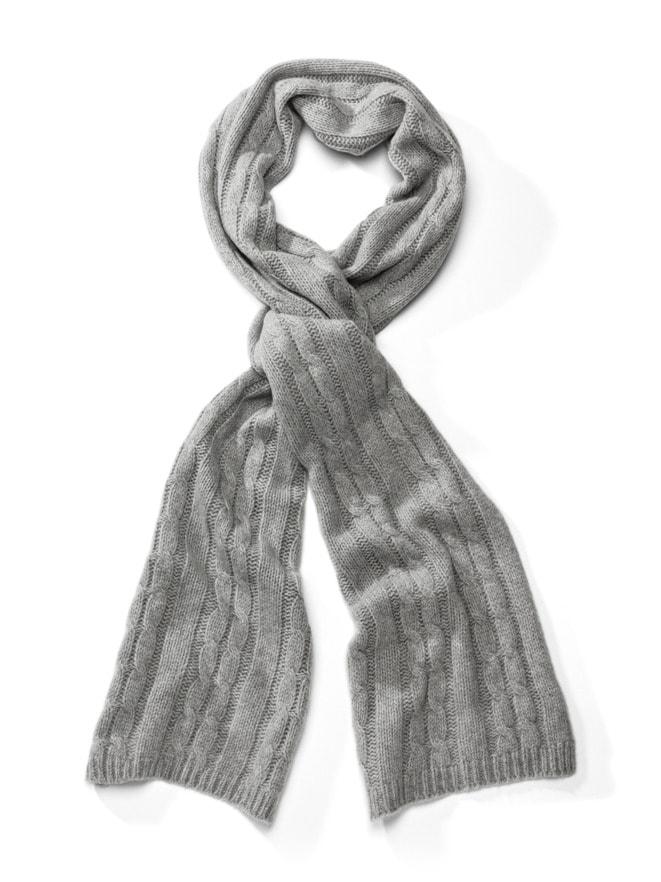 Cashmere-Zopfstrick-Schal