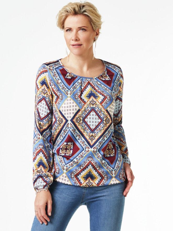 Viskose-Shirtbluse