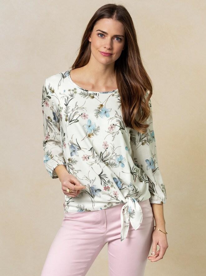 Shirtbluse mit Knoten