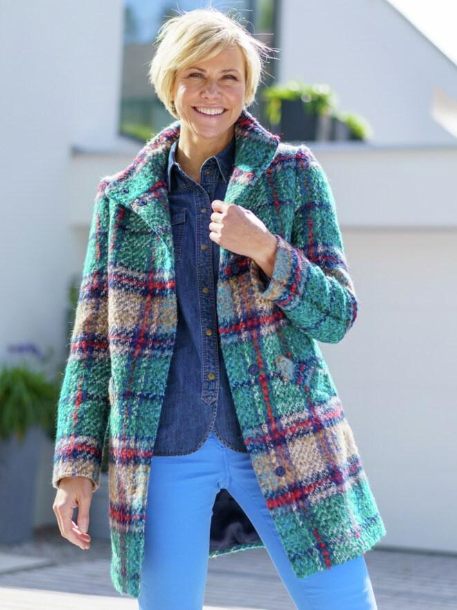 Outfit TV Karo-Wolljacke-Multicolor