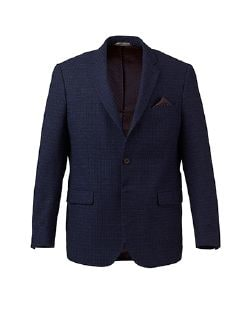 Woll-Cashmere Sakko Tollegno Blau Detail 7