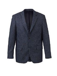Donegal-Tweed Sakko Rauchblau Detail 8
