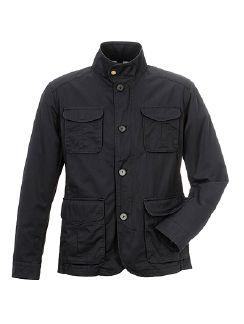 Baumwoll Freizeit Jacket Dunkelblau Detail 7