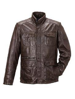 10- Taschen Lederjacke Dunkelbraun Detail 4