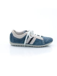Velours-Sneaker Fresh Air Rauchblau Detail 7