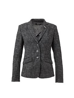 Pepita Strickblazer Anthrazit Detail 8