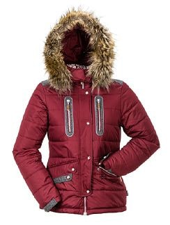 Klepper Aquastop Steppjacke  Weinrot Detail 5