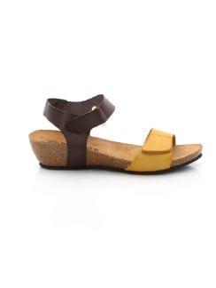 Kork-Sandale Trendline Braun/ Honig Detail 3